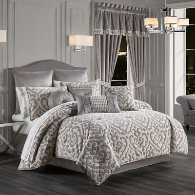 Belvedere Silver 4-Piece Comforter Set Comforter Sets By J. Queen New York
