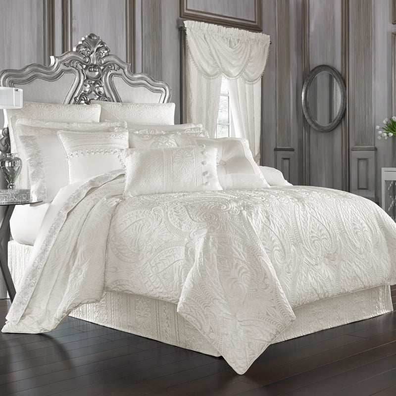 Bianco White 4-Piece Comforter Set [Luxury comforter Sets] [by Latest Bedding]
