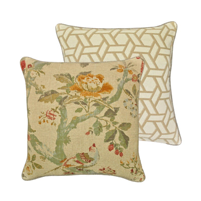 Biccari Multi Floral Throw Pillow [Luxury comforter Sets] [by Latest Bedding]