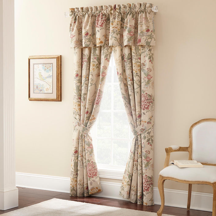 Biccari Multi Floral Window Panel Pair