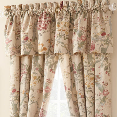 Biccari Multi Floral Window Valance [Luxury comforter Sets] [by Latest Bedding]