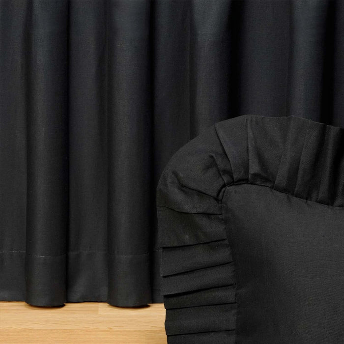 Birch Bear Black Night Bedskirt