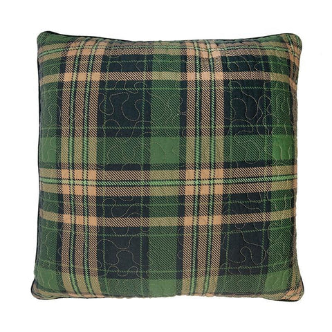 Birch Bear Plaid Square Decorative Pillow [Luxury comforter Sets] [by Latest Bedding]
