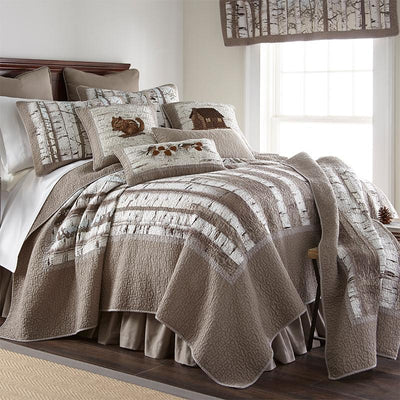 Birch Forest 3-Piece Cotton Quilt Set [Luxury comforter Sets] [by Latest Bedding]