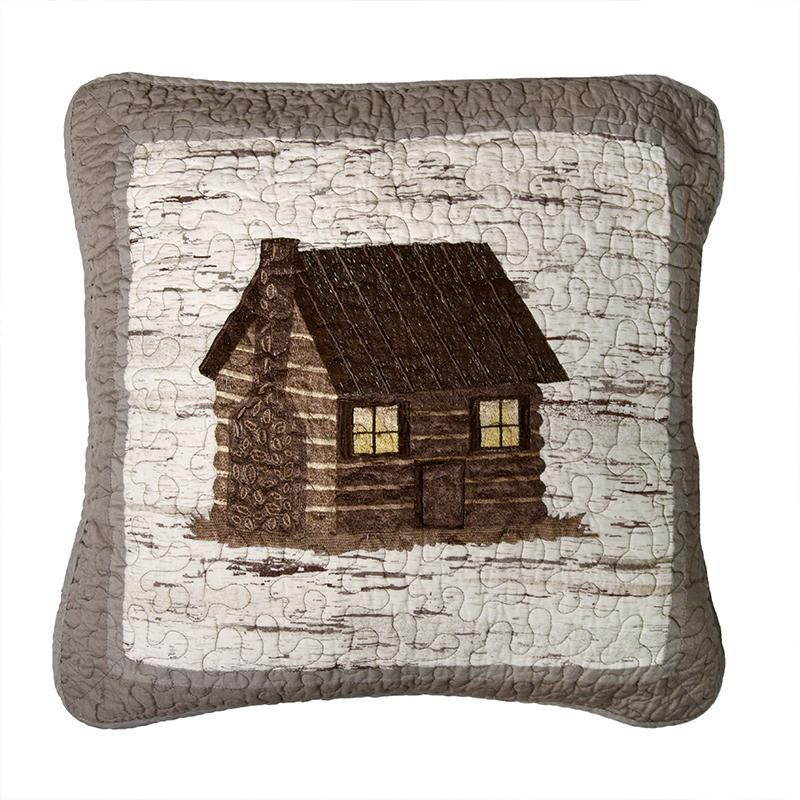 Birch Forest Cabin Decorative Pillow [Luxury comforter Sets] [by Latest Bedding]