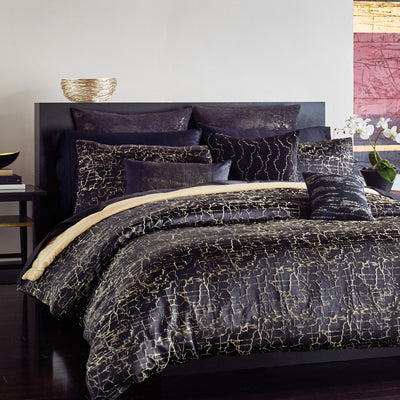 Onyx Black Duvet Cover - DKNY Home [Luxury comforter Sets] [by Latest Bedding]
