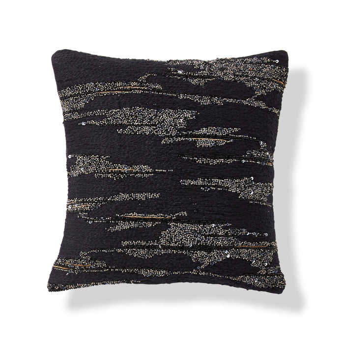 "Onyx Black Throw Pillow 12"" x 12"" - DKNY Home"