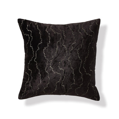 "Onyx Black Throw Pillow 20"" x 20"" - DKNY Home [Luxury comforter Sets] [by Latest Bedding]"