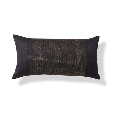 "Onyx Black Throw Pillow 22"" x 11"" - DKNY Home [Luxury comforter Sets] [by Latest Bedding]"