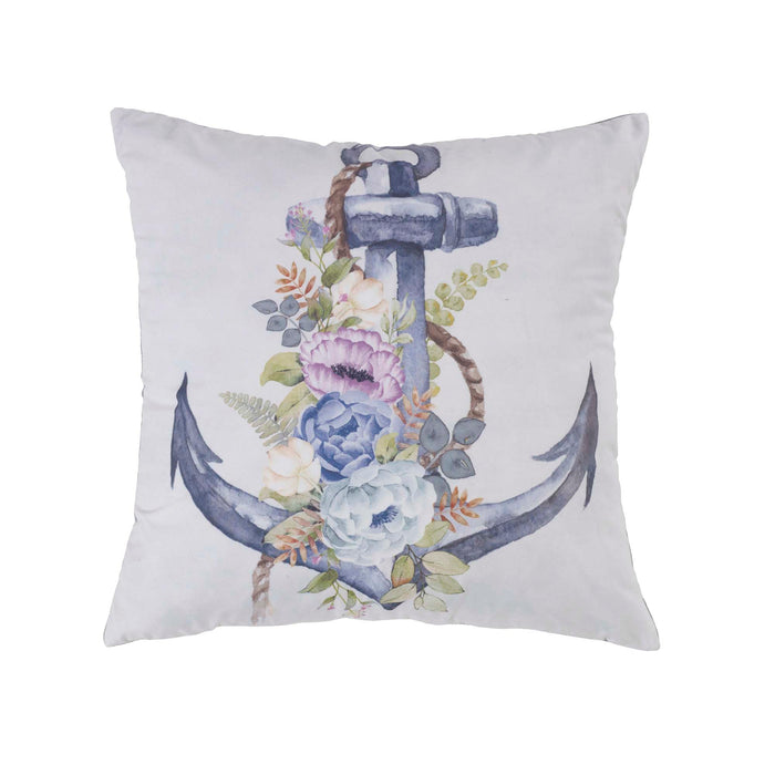 Bleached Boardwalk Anchor Decorative Throw Pillow