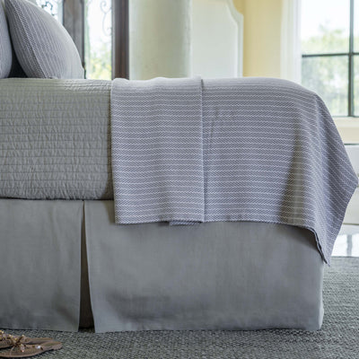 Bloom Grey Linen Bedskirt [Luxury comforter Sets] [by Latest Bedding]