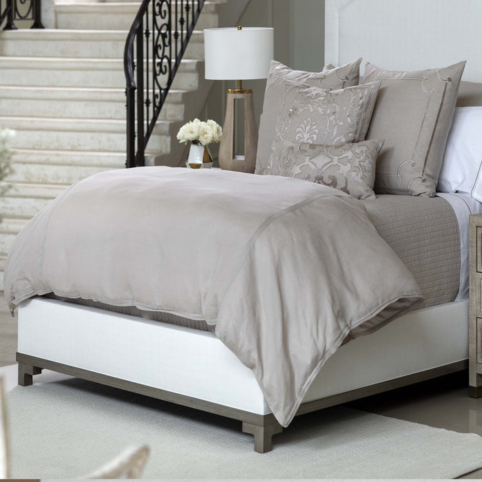 Bloom Raffia Linen Duvet Cover