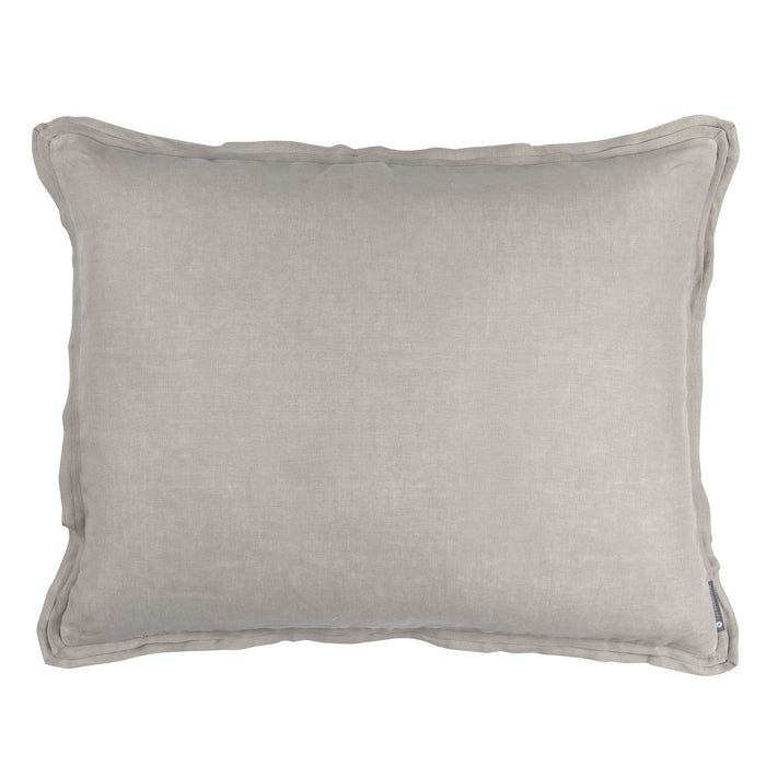 Bloom Raffia Linen Throw Pillow