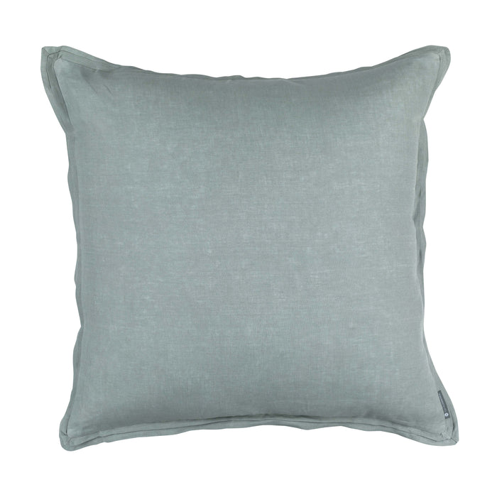 Bloom Sky Linen Euro Throw Pillow