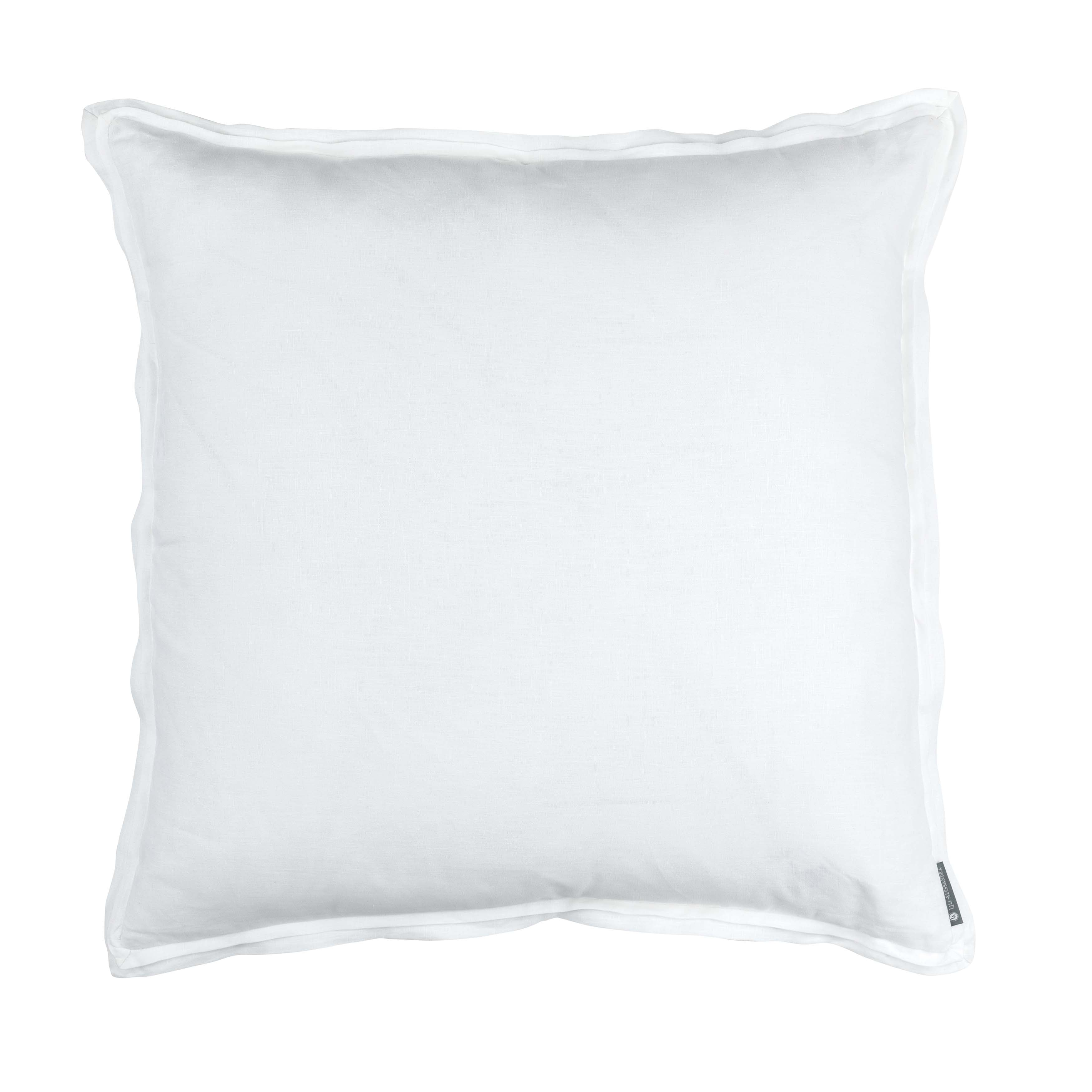 Bloom White Linen Euro Throw Pillow Throw Pillows By Lili Alessandra