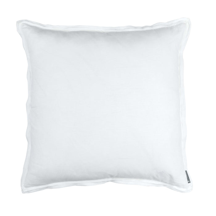Bloom White Linen Euro Throw Pillow