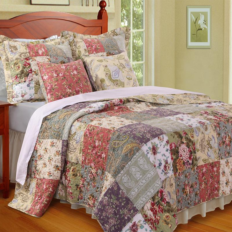 Quilt Sets Blooming Prairie Multi 5-Piece Bonus Quilt Set Latest Bedding
