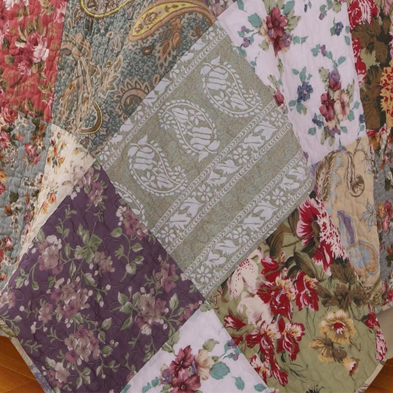 Blooming Prairie Multi 5-Piece Quilt Set Quilt Sets By Greenland Home Fashions