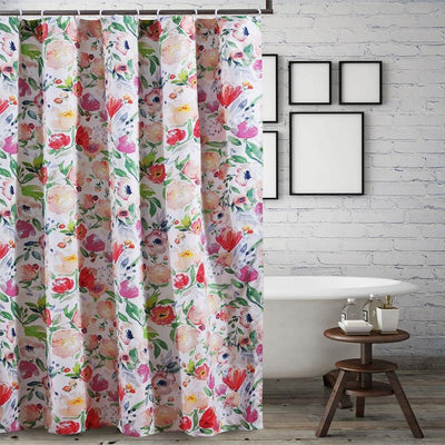 Blossom Multi Bath Shower Curtain [Luxury comforter Sets] [by Latest Bedding]