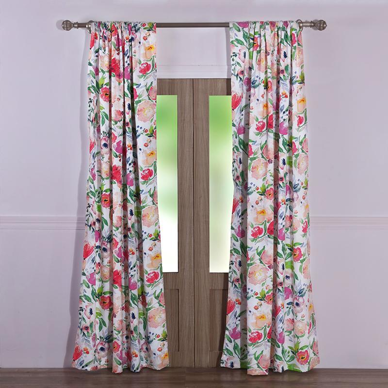 Curtains Greenland Home Fashions Blossom Window Panel Pair Latest Bedding