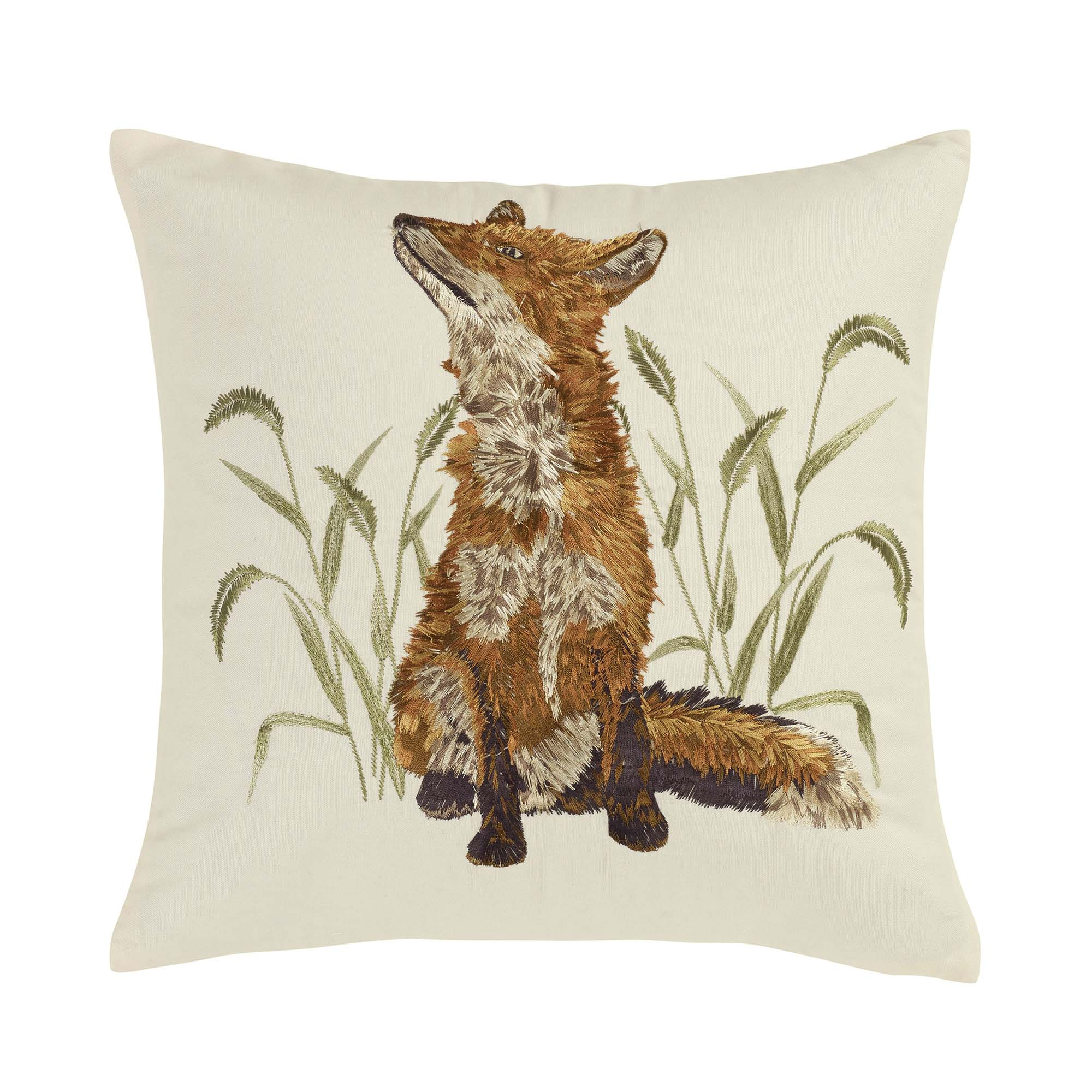 Blue Ridhe Fox Decorative Pillow [Luxury comforter Sets] [by Latest Bedding]