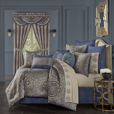 Botticelli Navy 4-Piece Comforter Set Comforter Sets By J. Queen New York