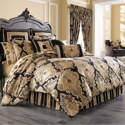 Bradshaw Black 4-Piece Comforter Set [Luxury comforter Sets] [by Latest Bedding]