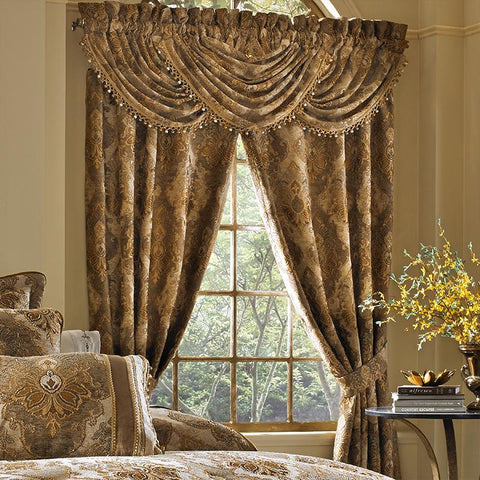 Bradshaw Natural Waterfall Window Valance [Luxury comforter Sets] [by Latest Bedding]