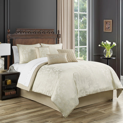 Bridget Gold 7-Piece Comforter Set Comforter Sets By Waterford