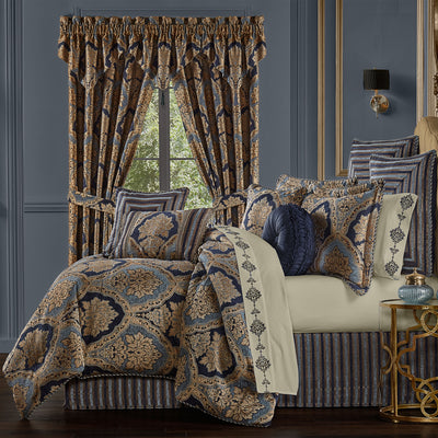 Bristol Indigo 4-Piece Comforter Set [Luxury comforter Sets] [by Latest Bedding]