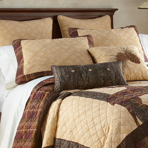 Brown Antler Woods 3-Piece Cotton Quilt Set [Luxury comforter Sets] [by Latest Bedding]