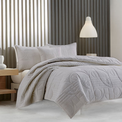 Bryant Grey Quilted Coverlet Coverlet By J. Queen New York