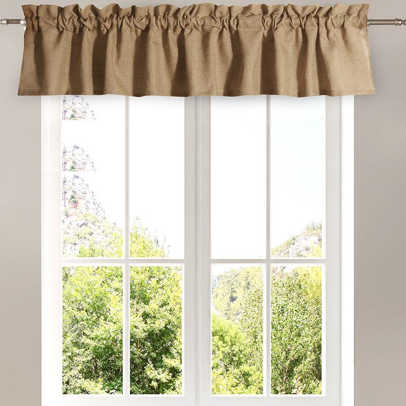 Burlap Natural Window Valance [Luxury comforter Sets] [by Latest Bedding]