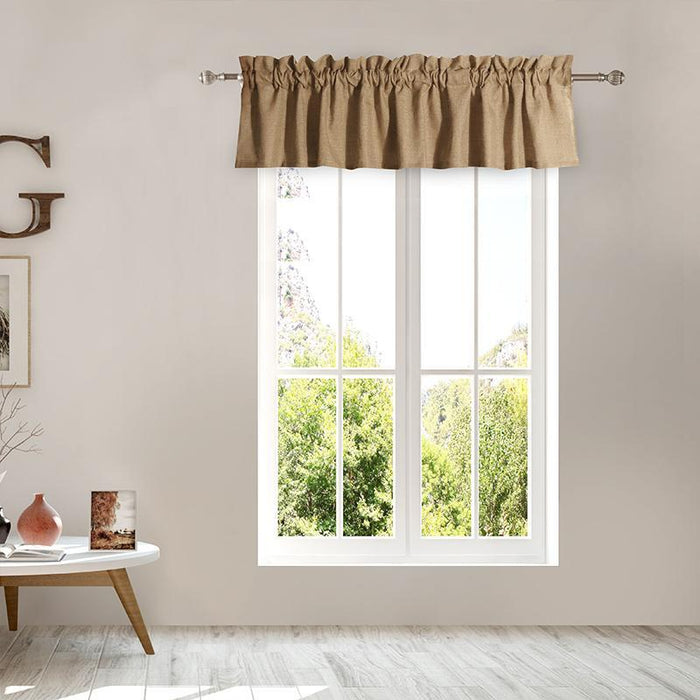 Burlap Natural Window Valance