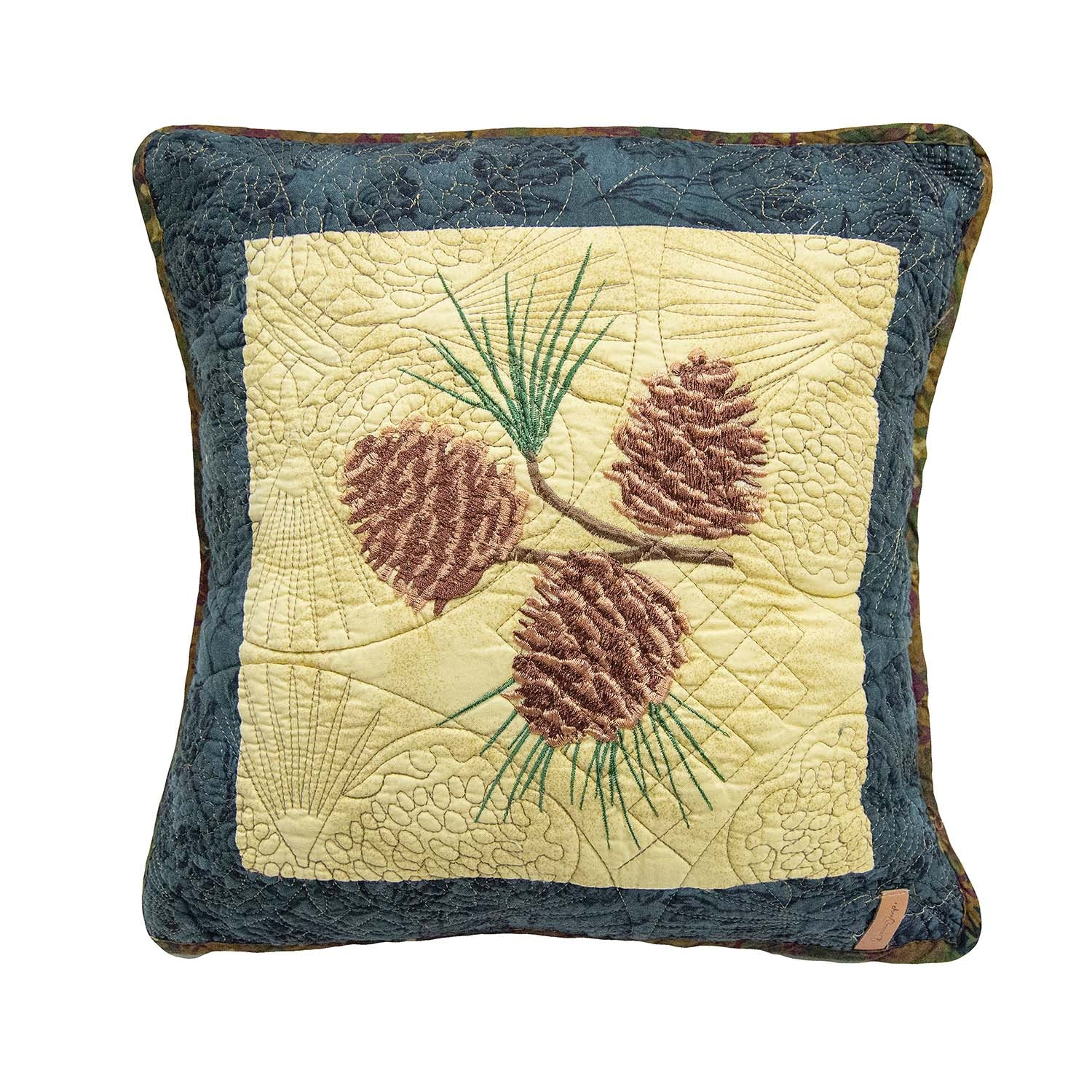 "Cabin Raising Pinecone ""Pinecone"" Pillow 15"" x 15"" [Luxury comforter Sets] [by Latest Bedding]"