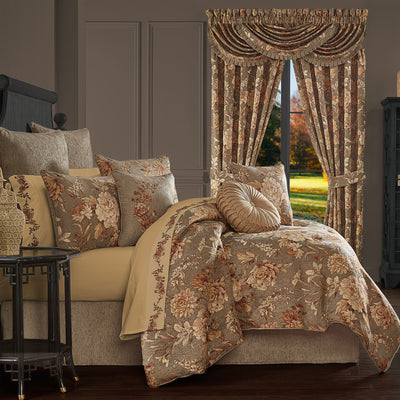 Camellia Rust 4-Piece Comforter Set [Luxury comforter Sets] [by Latest Bedding]