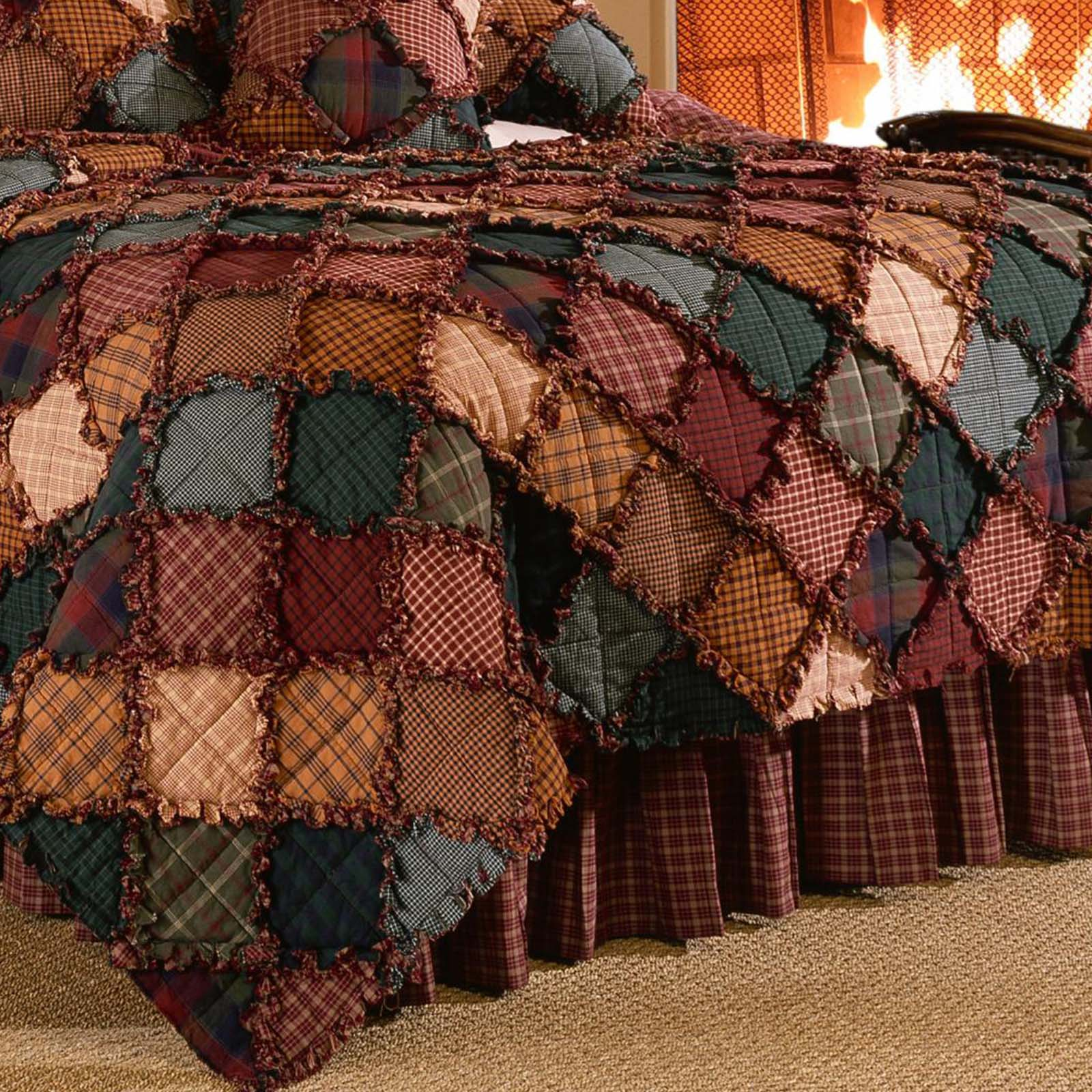 Campfire Red 3-Piece Cotton Quilt Set [Luxury comforter Sets] [by Latest Bedding]