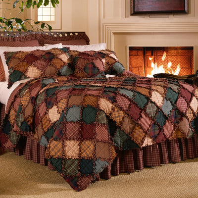 Campfire Red 3-Piece Cotton Quilt Set Quilt Sets By Donna Sharp