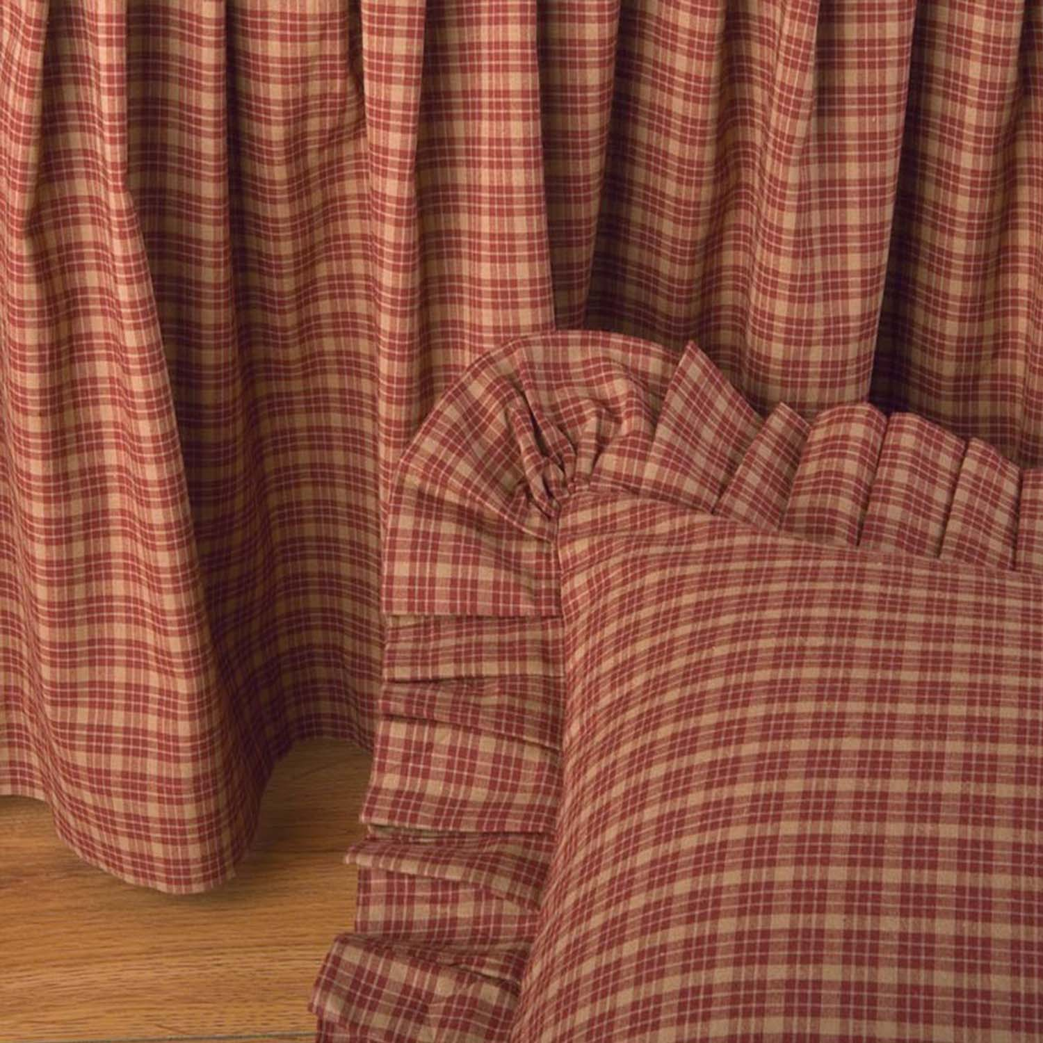 Campfire Red Bedskirt Bed Skirt By Donna Sharp