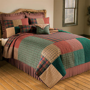 Campfire Square 3-Piece Cotton Quilt Set [Luxury comforter Sets] [by Latest Bedding]