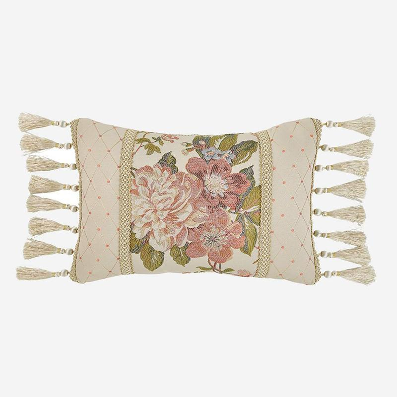 Throw Pillows Croscill Carlotta Multi Boudoir Pillow [Luxury comforter Sets) ( by Latest Bedding)]