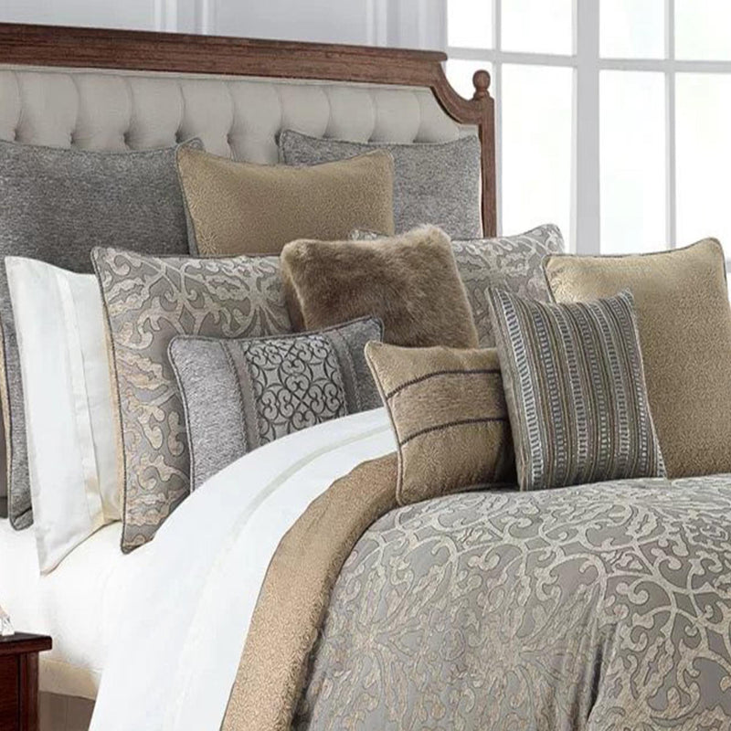 Carrick Silver Antique Gold 4 Piece Reversible Comforter