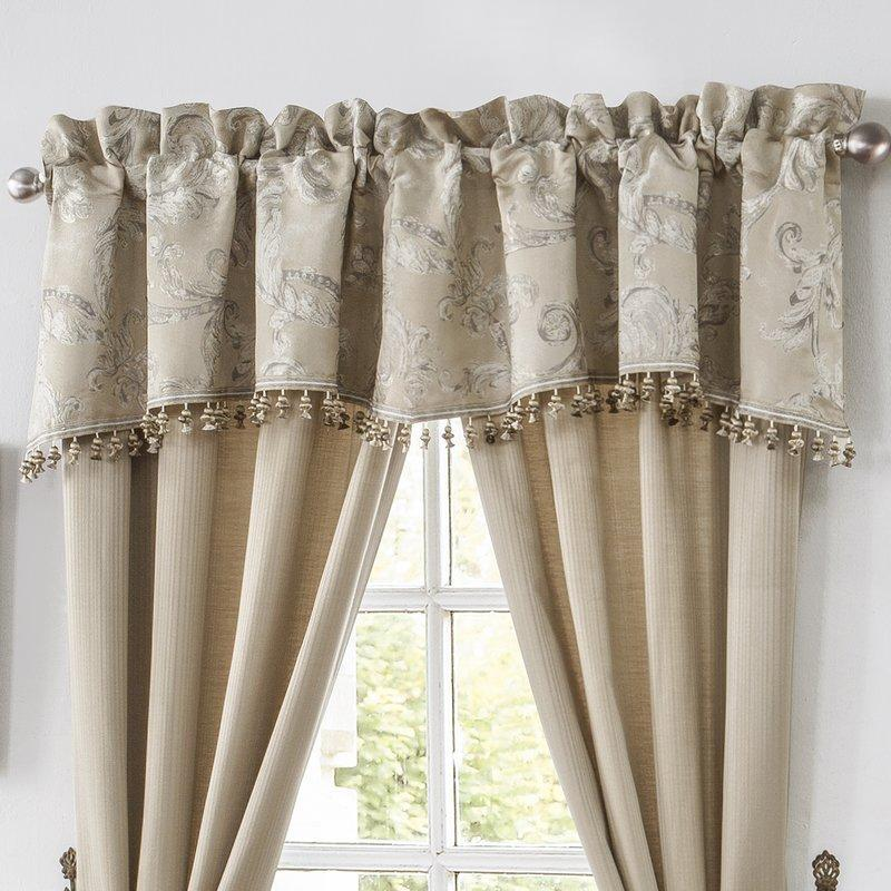 Chantelle Taupe Scalloped Valance by Waterford [Luxury comforter Sets] [by Latest Bedding]