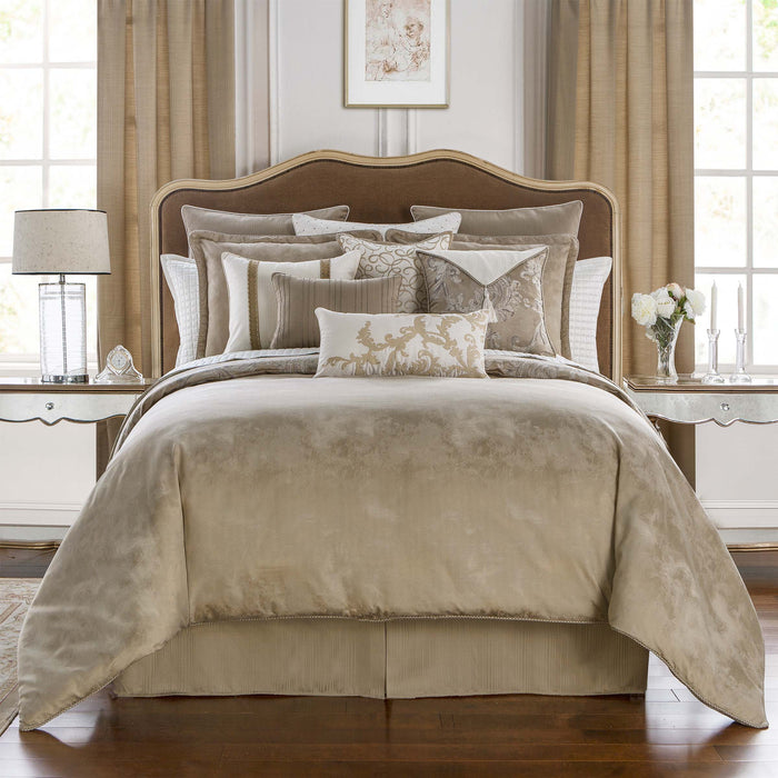 Chantelle Taupe 4-Piece Reversible Comforter Set