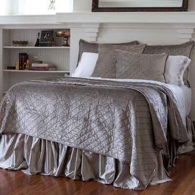 Chloe Fawn Velvet Diamond Quilted Coverlet [Luxury comforter Sets] [by Latest Bedding]