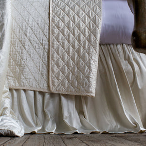 Chloe Ivory Bed Skirt - Lili Alessandra [Luxury comforter Sets] [by Latest Bedding]