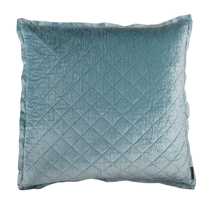 Chloe Sea Foam Velvet Diamond Quilted Euro Pillow