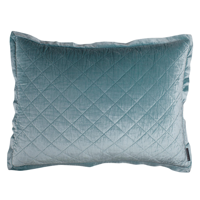 Chloe Sea Foam Velvet Diamond Quilted Pillow