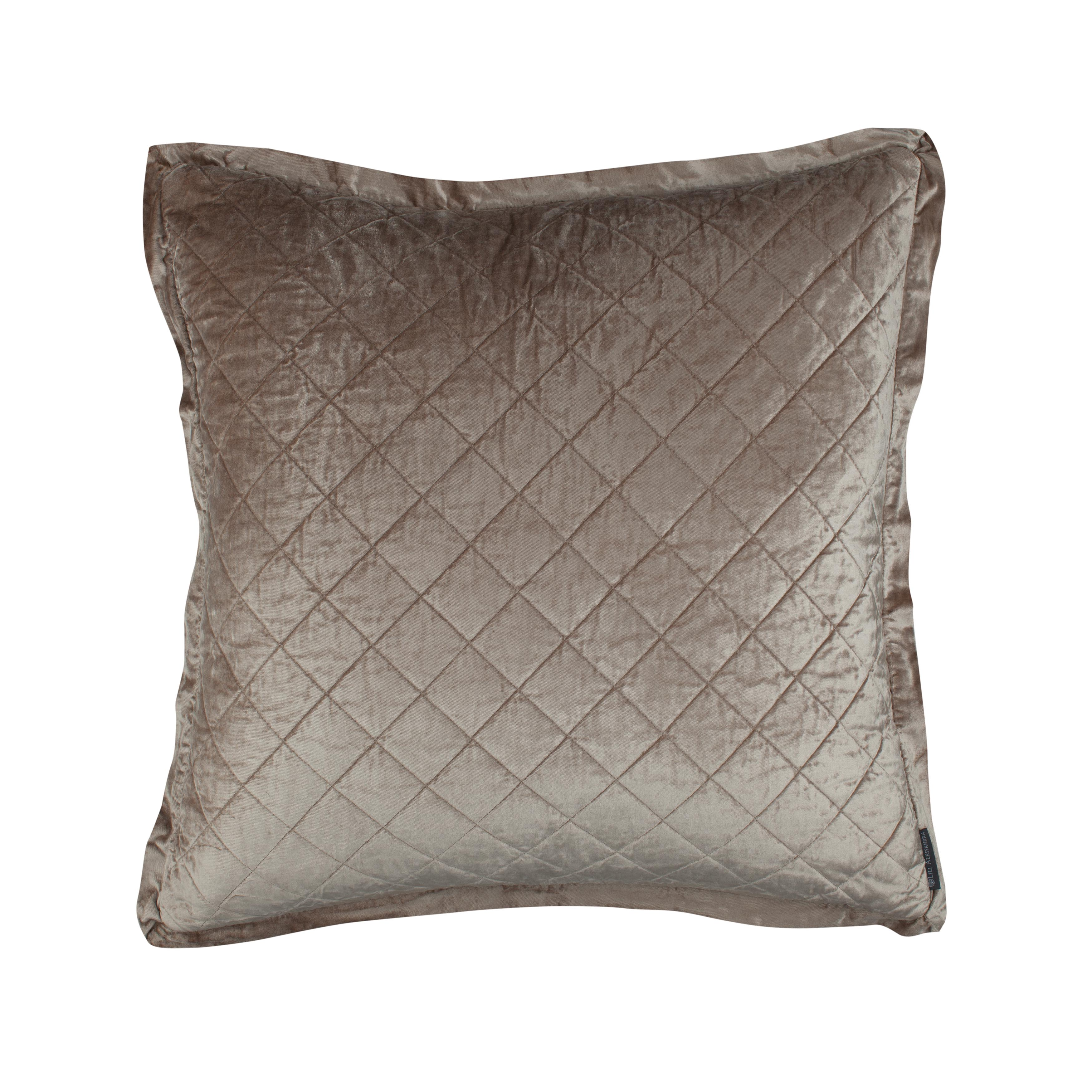 Chlow Champagne Velvet Quilted Euro Pillow [Luxury comforter Sets] [by Latest Bedding]