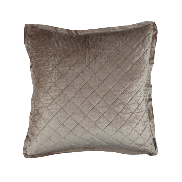 Chlow Champagne Velvet Quilted Euro Pillow